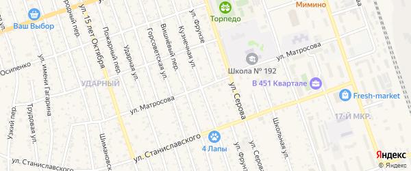 Улица Матросова на карте Свободного с номерами домов