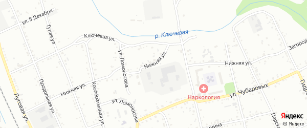 Нижняя улица на карте Свободного с номерами домов