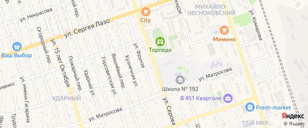 Улица Серова на карте Свободного с номерами домов