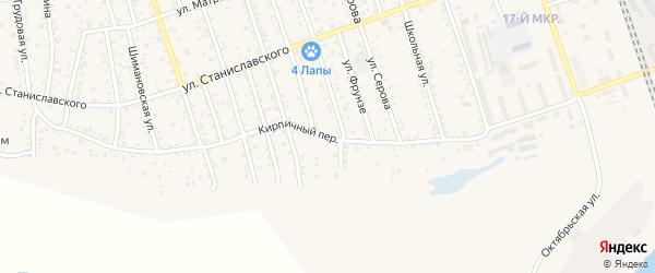 Кирпичный переулок на карте Свободного с номерами домов