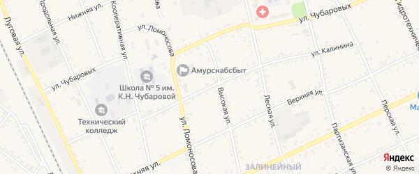 Улица Калинина на карте Свободного с номерами домов