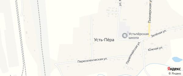 Комсомольская улица на карте села Усть-Пера с номерами домов