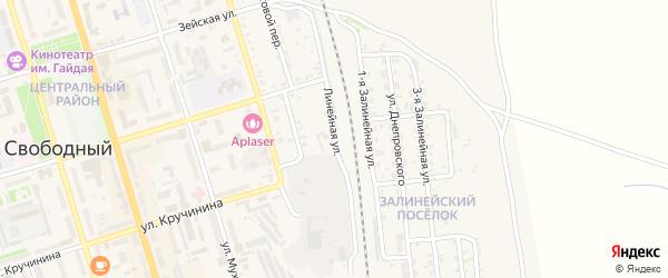 Междулинейная улица на карте Свободного с номерами домов