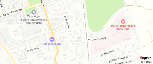 Парковый переулок на карте Свободного с номерами домов