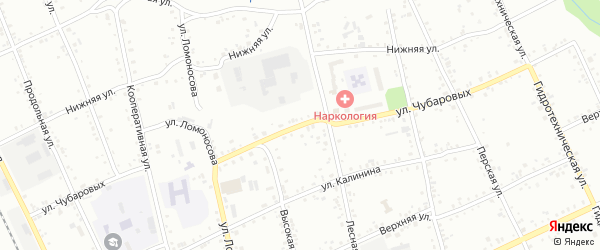 Улица Чубаровых на карте Свободного с номерами домов