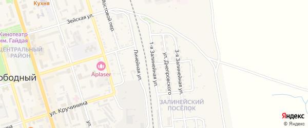 1-я Залинейная улица на карте Свободного с номерами домов