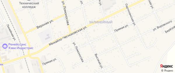Высокая улица на карте Свободного с номерами домов