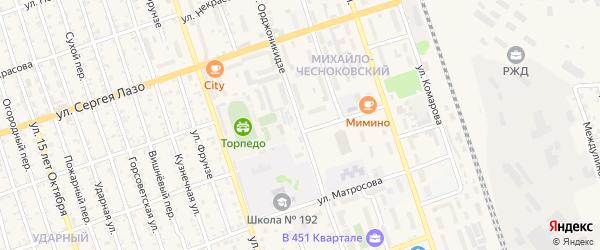 Улица Орджоникидзе на карте Свободного с номерами домов