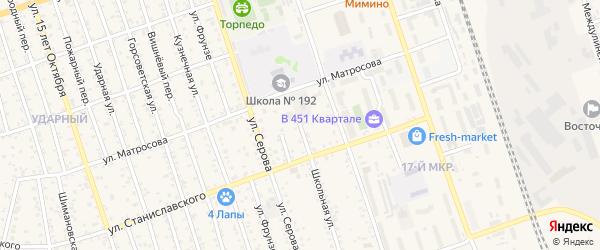 Школьная улица на карте Свободного с номерами домов