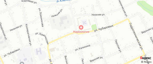 Лесная улица на карте Свободного с номерами домов