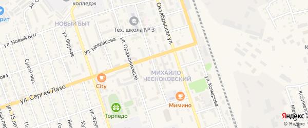 Театральный переулок на карте Свободного с номерами домов