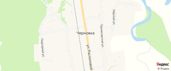 Улица Н.Распоповой на карте села Черновки с номерами домов