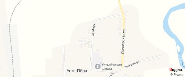 Улица Мира на карте села Усть-Пера с номерами домов