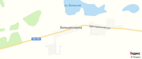 Карта села Большеозерки в Амурской области с улицами и номерами домов