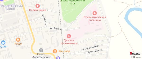 Улица Сухой Овраг на карте Свободного с номерами домов