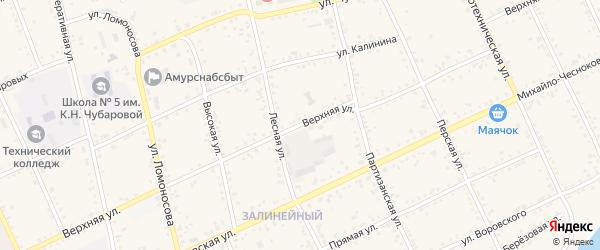 Верхняя улица на карте Свободного с номерами домов