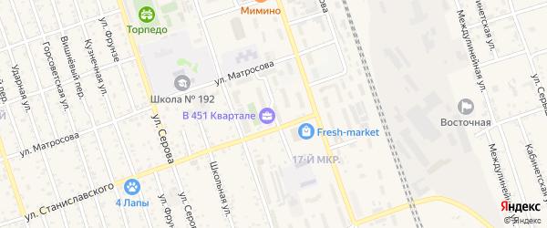 Тупиковый переулок на карте Свободного с номерами домов
