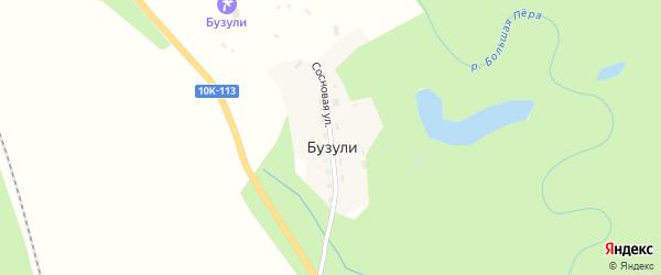 Сосновая улица на карте села Бузули с номерами домов