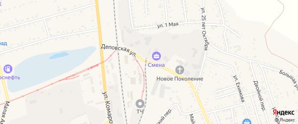 Деповская улица на карте Свободного с номерами домов