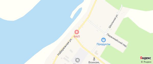 Набережная улица на карте села Большей Сазанки с номерами домов