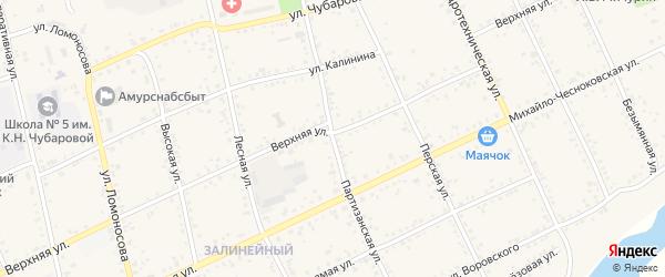 Партизанская улица на карте Свободного с номерами домов