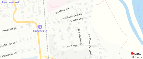 Чапаевская улица на карте Свободного с номерами домов