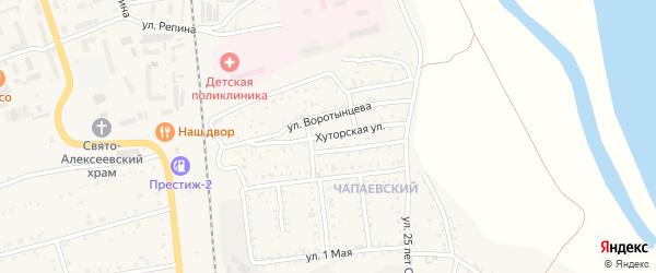 Хуторская улица на карте Свободного с номерами домов