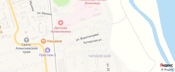 Улица Воротынцева на карте Свободного с номерами домов