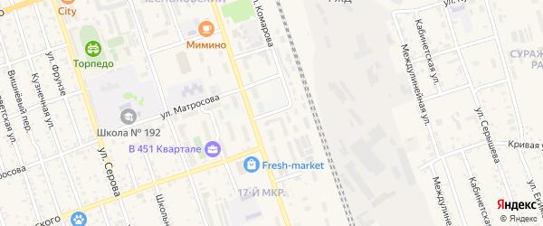 Паровозный переулок на карте Свободного с номерами домов