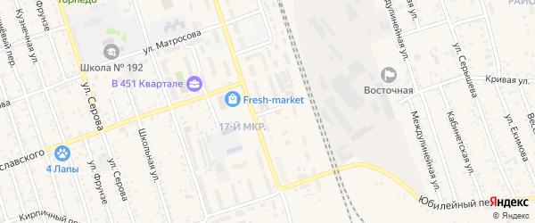 Вольный переулок на карте Свободного с номерами домов
