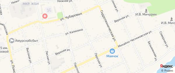 Перская улица на карте Свободного с номерами домов