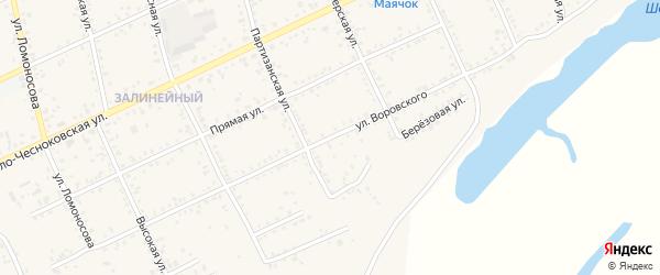 Улица Воровского на карте Свободного с номерами домов