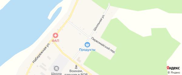 Первомайский переулок на карте села Большей Сазанки с номерами домов