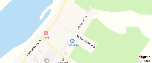 Школьная улица на карте села Большей Сазанки с номерами домов