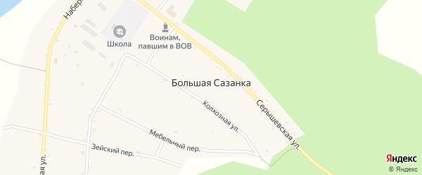 Зейский переулок на карте села Большей Сазанки с номерами домов