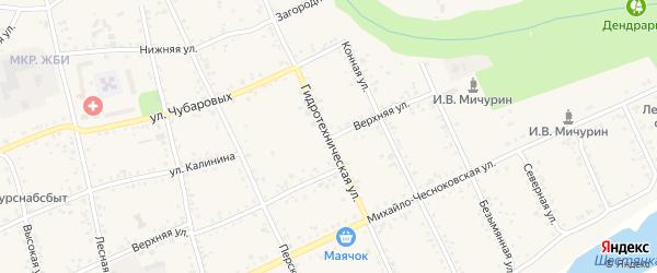 Гидротехническая улица на карте Свободного с номерами домов