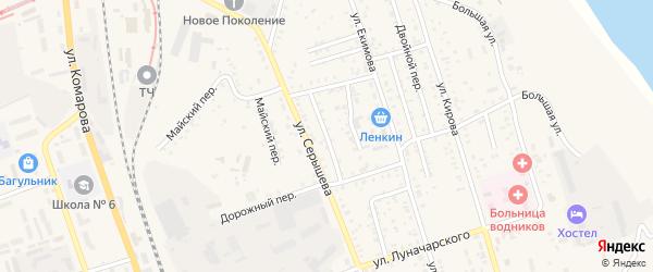 Ключевой переулок на карте Свободного с номерами домов