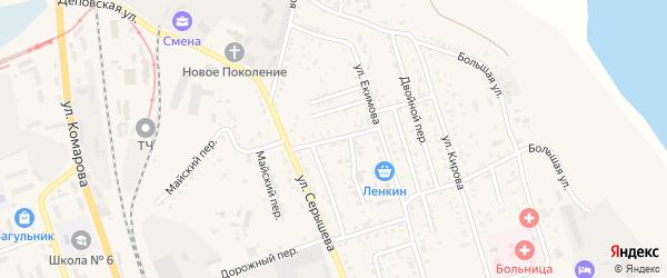 Майский переулок на карте Свободного с номерами домов