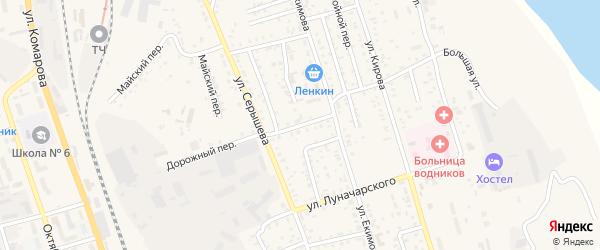 Дорожный переулок на карте Свободного с номерами домов
