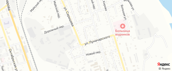 Мирный переулок на карте Свободного с номерами домов