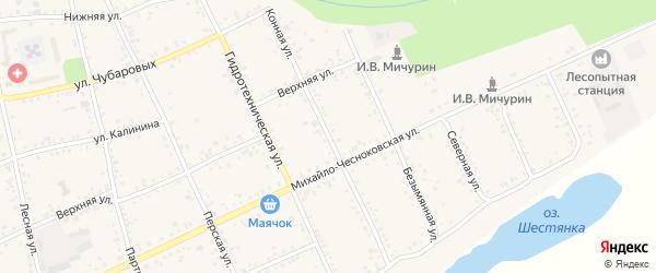 Конная улица на карте Свободного с номерами домов