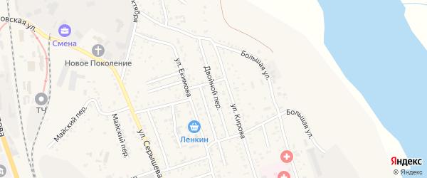 Двойной переулок на карте Свободного с номерами домов
