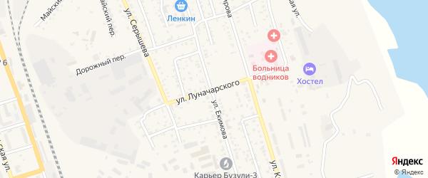 Улица Луначарского на карте Свободного с номерами домов