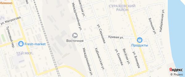 Кабинетская улица на карте Свободного с номерами домов