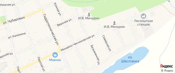 Безымянная улица на карте Свободного с номерами домов