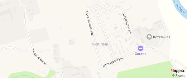 Поселковый переулок на карте Свободного с номерами домов