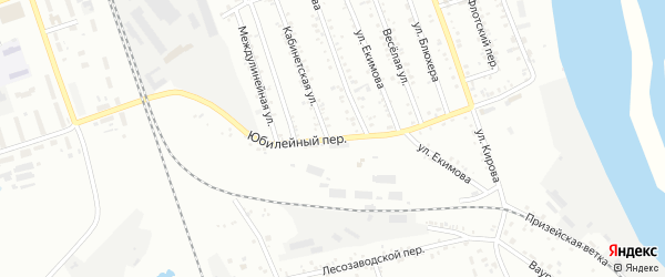 Юбилейный переулок на карте Свободного с номерами домов