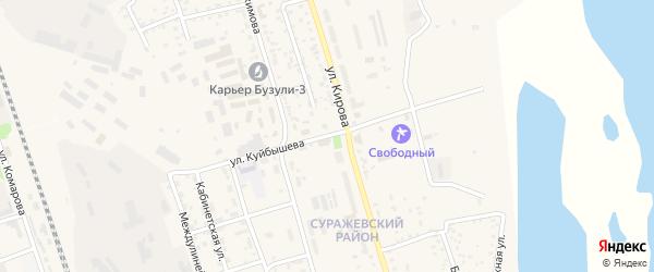 Улица Куйбышева на карте Свободного с номерами домов