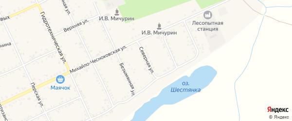 Северная улица на карте Свободного с номерами домов