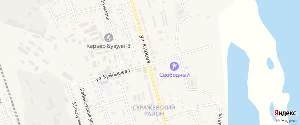 Улица Кирова на карте Свободного с номерами домов